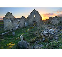 Abbey at sunset Photographic Print