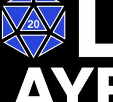 Roll Player Blue d20 Sticker Sticker