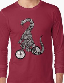 Brontosaurus Love Pipe  Long Sleeve T-Shirt