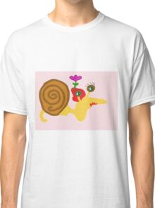 Madam Snail In Her Red Hat Classic T-Shirt