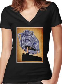 RISE OF THE CYBERMEN  Women's Fitted V-Neck T-Shirt