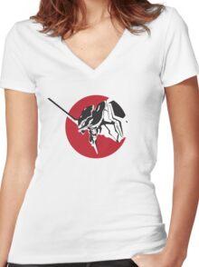 Eva scream Women's Fitted V-Neck T-Shirt