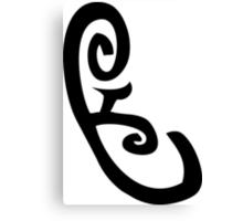 Mortal Instruments - Speech Rune Canvas Print
