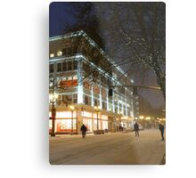 winter streetscape Metal Print