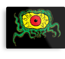 Crawling Eye Monster Metal Print