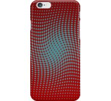 Polka dots with a twist red and blue op-art iPhone Case/Skin