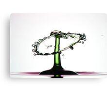 Fluidart water drop collision Canvas Print