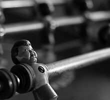 Foosball Player Black and White by boozehound