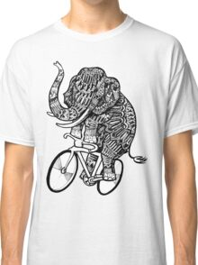 Elephant Aztec on a Bicycle  Classic T-Shirt