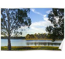 Hope Valley Reservoir Sunset Poster