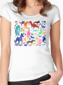 Animal Sampler Women's Fitted Scoop T-Shirt