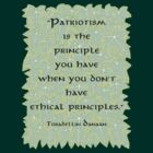 Patriotism is Not an Ethical Principle  by Toradellin