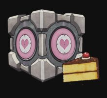 Companion Cube and Cake by Julia Lichty