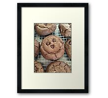 double chocolate cookies :) Framed Print