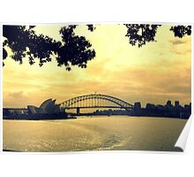 Sunset Sydney Poster