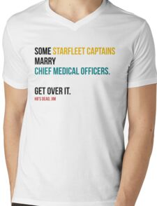 Some Starfleet Captains Marry Chief Medical Officers Light Mens V-Neck T-Shirt