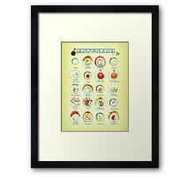 Know Your Roll - Cute Educational Sushi Framed Print
