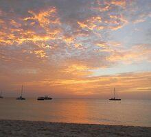 Aruba, Palm Beach Sunset by bsauvey