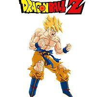 Goku SSJ Powering Up by Timanator3000