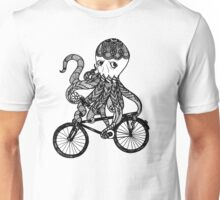 Octopus Love Bicycle  Unisex T-Shirt