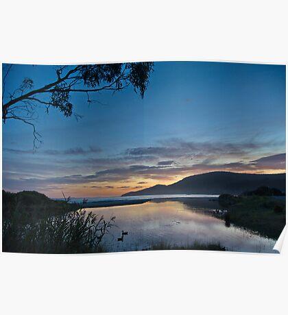 Captain Cook Creek Sunrise - Bruny Island, Tasmania, Australia Poster