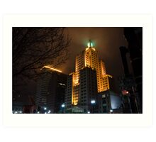 """Superman Building"" Downtown Providence Art Print"
