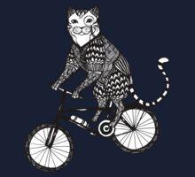 Cat on a Bike Ride  One Piece - Long Sleeve