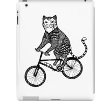 Cat on a Bike Ride  iPad Case/Skin