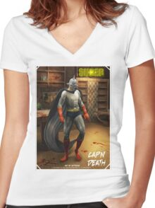 Cap'N Death Women's Fitted V-Neck T-Shirt