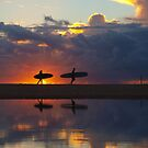 surfer silhouettes II by geophotographic