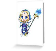 Dota 2 Chibi Crystal Maiden Greeting Card