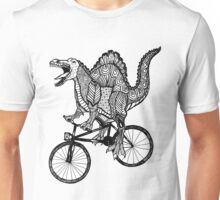 Spinosaurus Aztec Bicycle Unisex T-Shirt