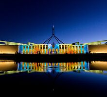 Enlightened Parliament - Opalescent Colours by Peter Gray