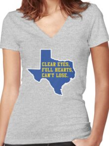 Clear Eyes, Full Hearts, Can't Lose – Friday Night Lights Women's Fitted V-Neck T-Shirt