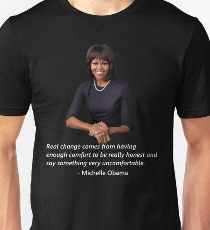 Michelle Obama- White Unisex T-Shirt