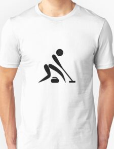 Curling Pictograph  T-Shirt