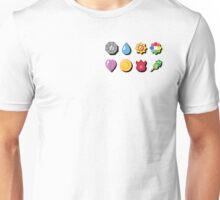Kanto Pokemon Badges (With Shadow) Unisex T-Shirt