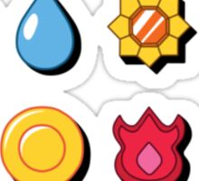 Kanto Pokemon Badges (With Shadow) Sticker