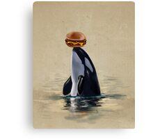 Orca Can Has Cheeseburger Canvas Print