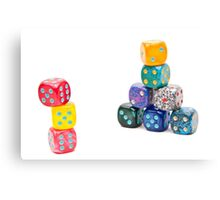Dices Canvas Print