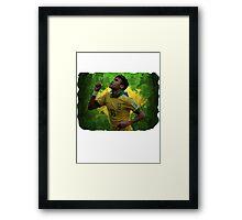 Neymar Brazil football soccer Framed Print