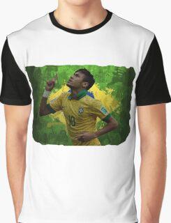 Neymar Brazil football soccer Graphic T-Shirt
