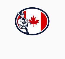Canadian Baseball Batter Canada Flag Retro Unisex T-Shirt