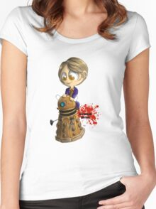 Exterminate the rude Women's Fitted Scoop T-Shirt