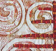 """Textile Art """"Kindness"""" by Bekahdu"""