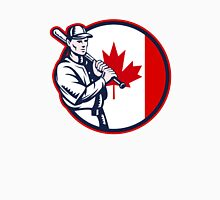 Canadian Baseball Batter Canada Flag Circle Unisex T-Shirt