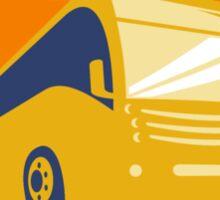 Tourist Coach Shuttle Bus Retro Sticker