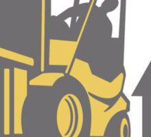 Forklift Truck Materials Handling Logistics Retro Sticker
