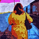 Woman under an umbrella by Ale Di Gangi