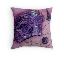 The Purple Fish Throw Pillow